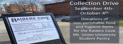 Collection Drive For Raiders Cove Pantry