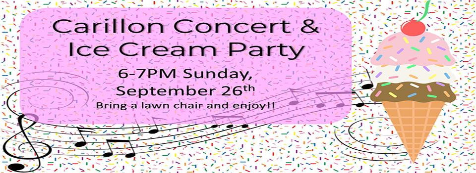 Carillon Concert & Ice Cream