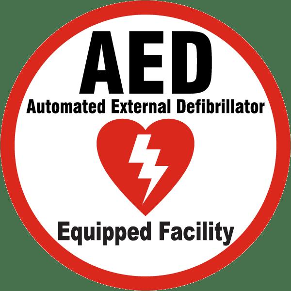 AED Defibrilator Equipped